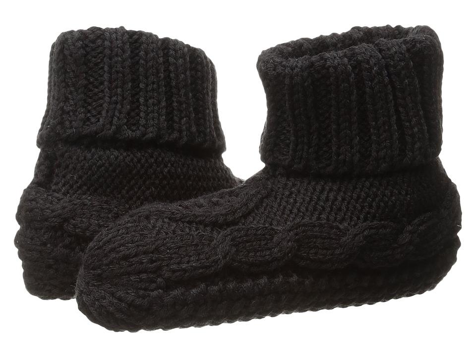 LAUREN Ralph Lauren - Turn Cuff Bootie (Black) Women's Quarter Length Socks Shoes