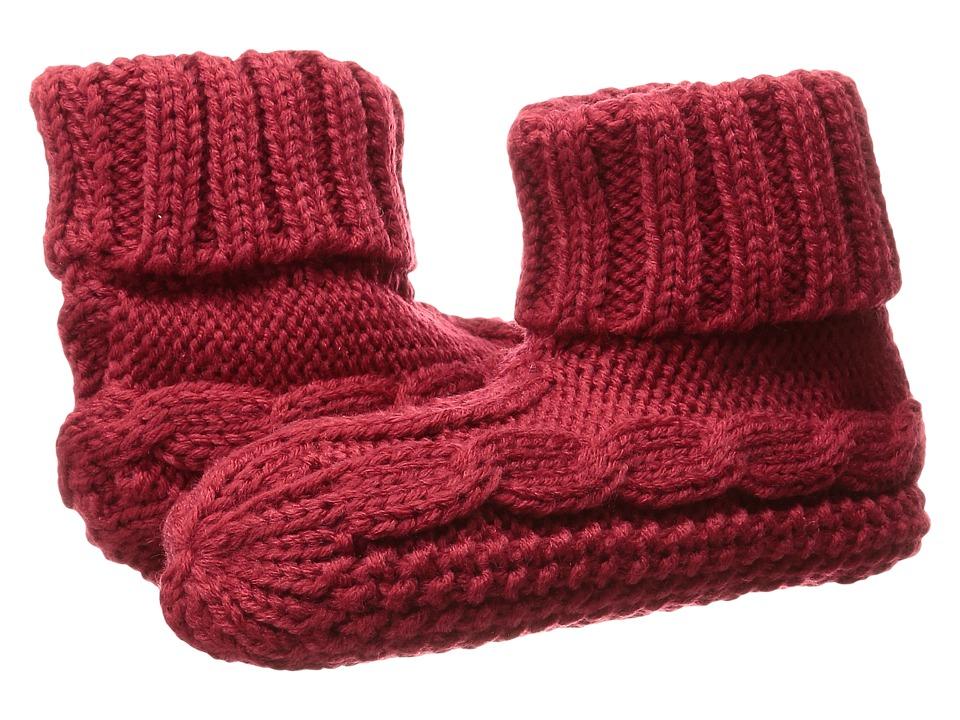 LAUREN Ralph Lauren - Turn Cuff Bootie (Red) Women's Quarter Length Socks Shoes