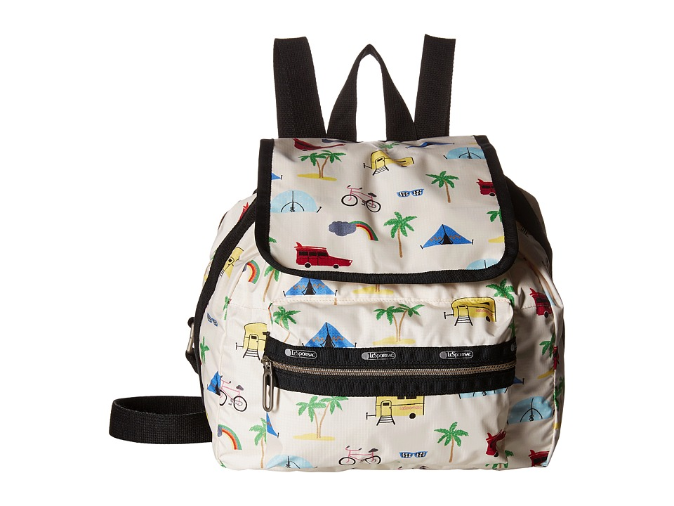 LeSportsac - Mini Voyager (Roadtrip Vaca Cream) Handbags