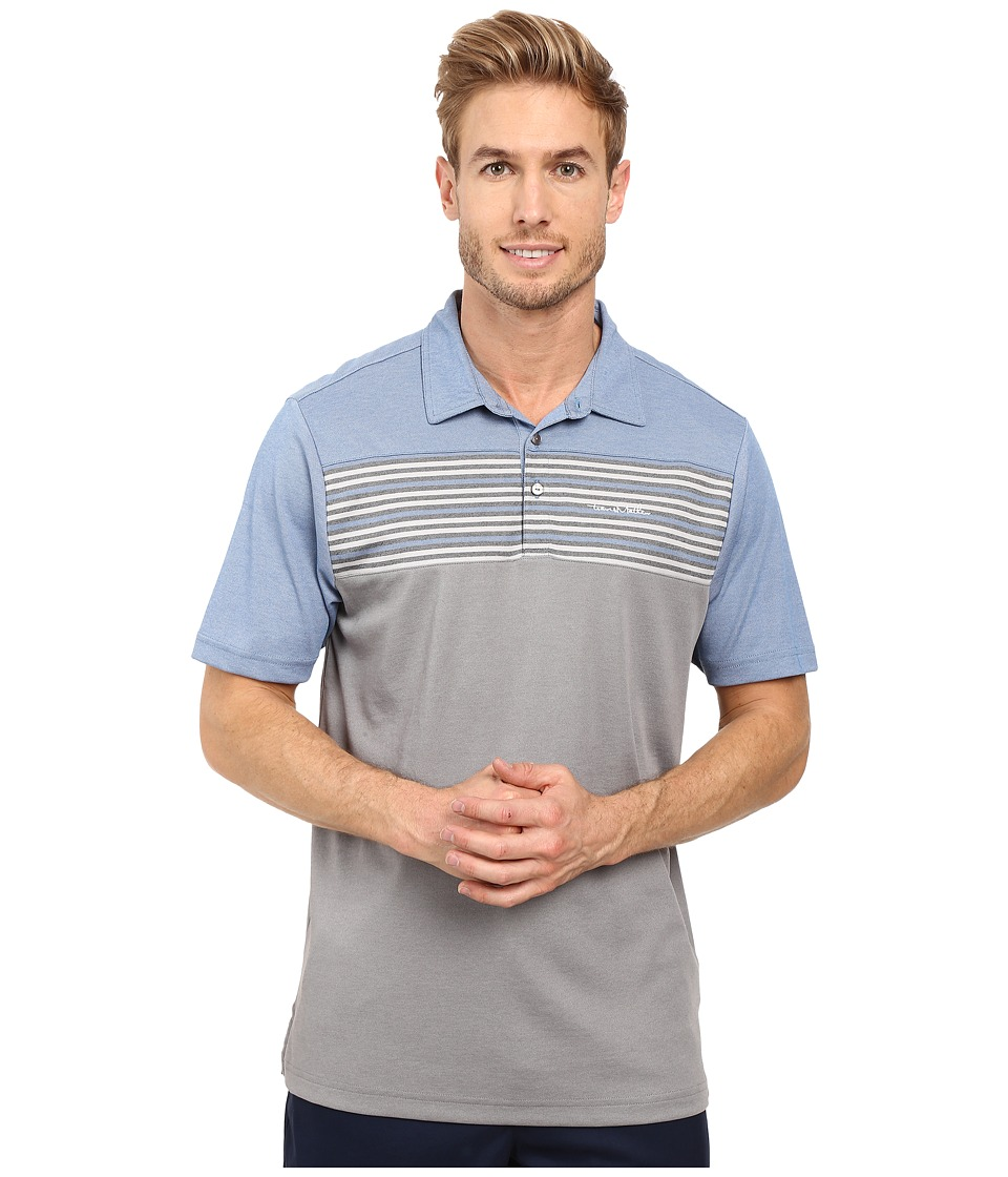 TravisMathew - Strub Polo (Snorkel Blue/Micro Chip) Men's Clothing