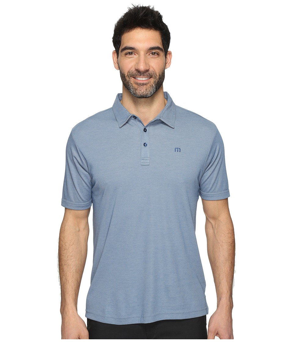 TravisMathew - Stratman Polo (Dark Blue/Micro Chip) Men's Clothing