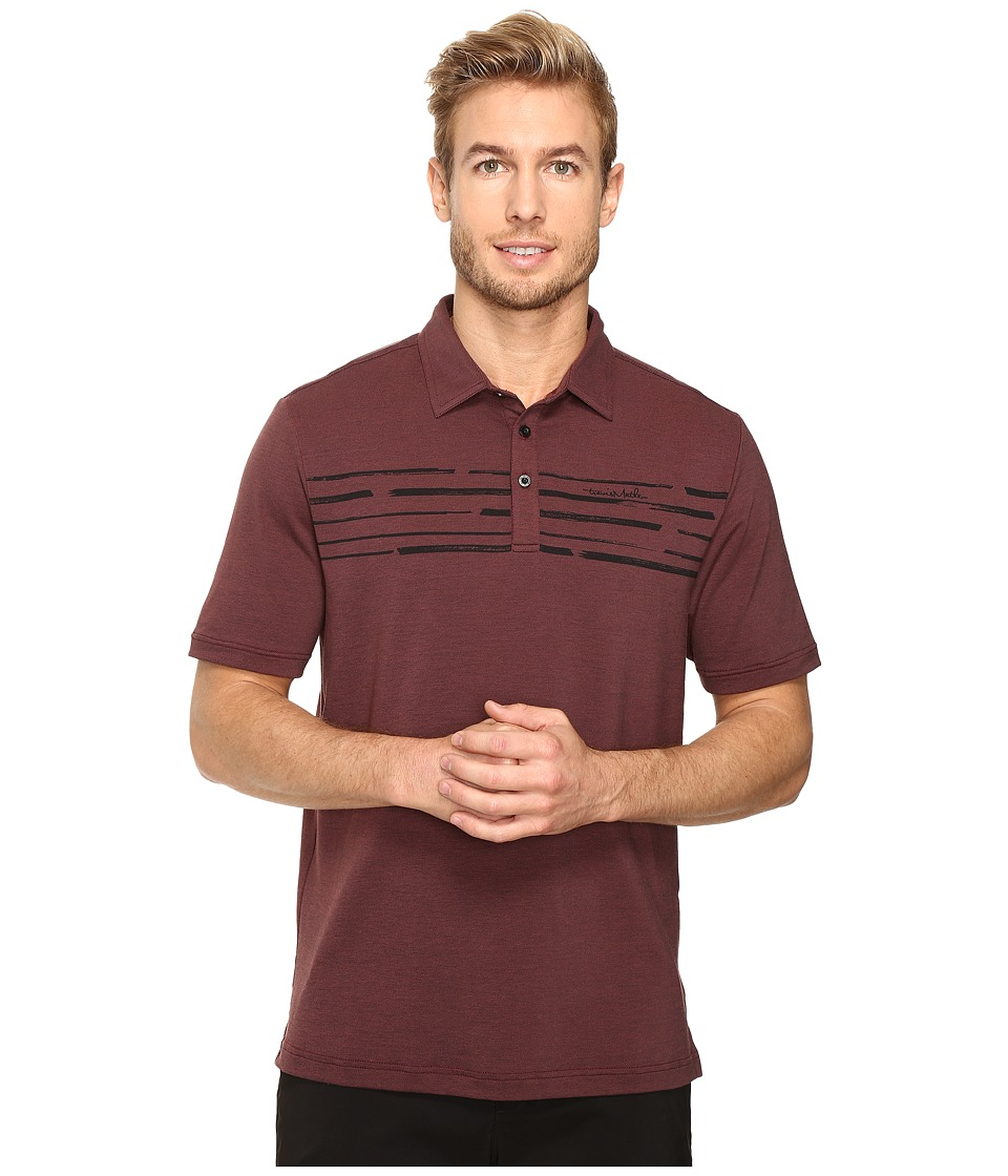 TravisMathew - Surs Polo (Oxblood/Black) Men's Clothing