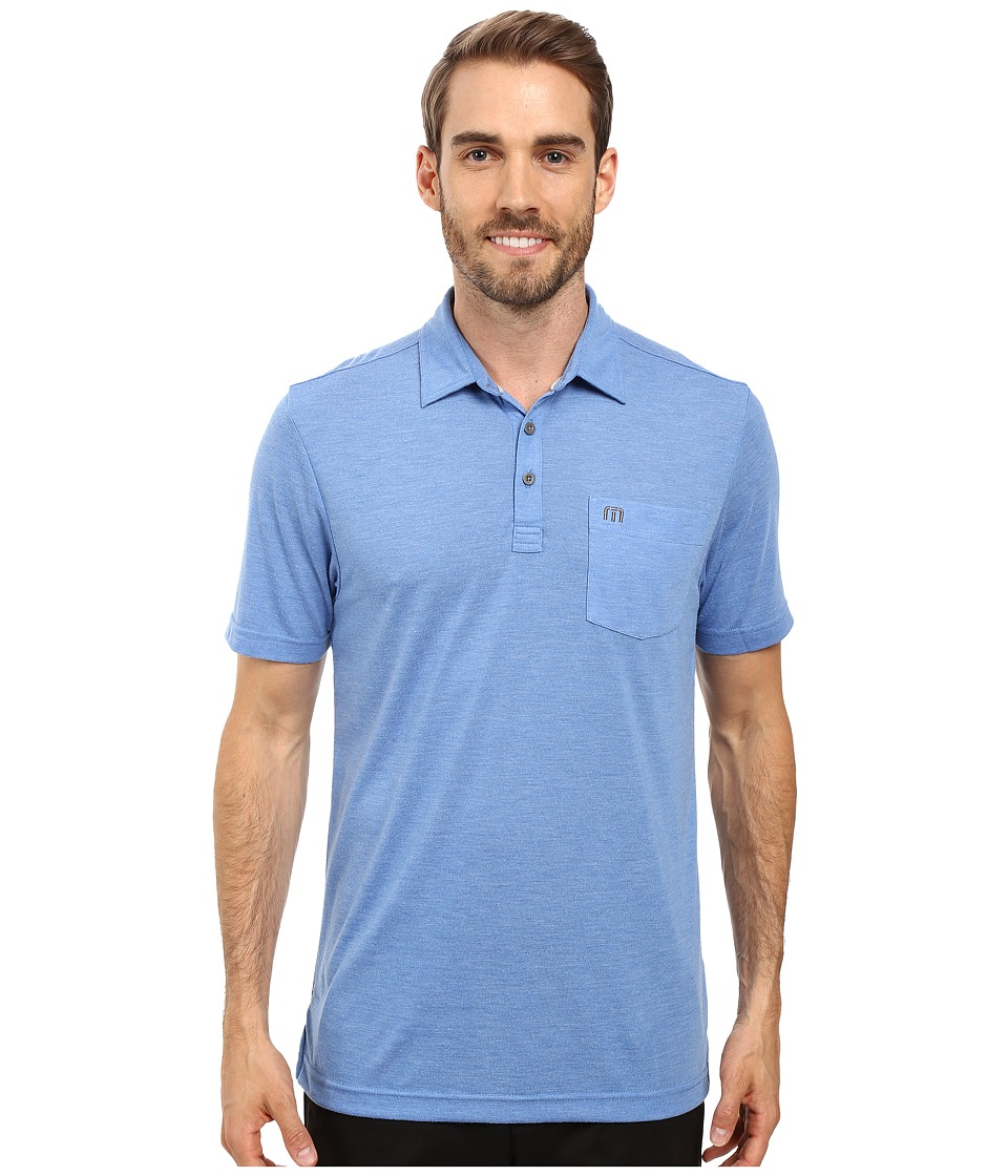 TravisMathew - Huban Polo (Nautical Blue/Angel Falls) Men's Clothing