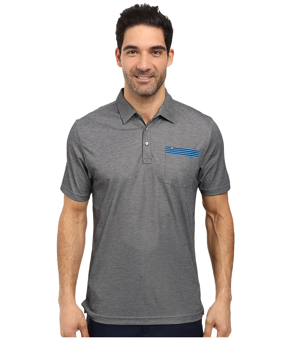 TravisMathew - Waleetz Polo (Black/Micro Chip) Men's Clothing