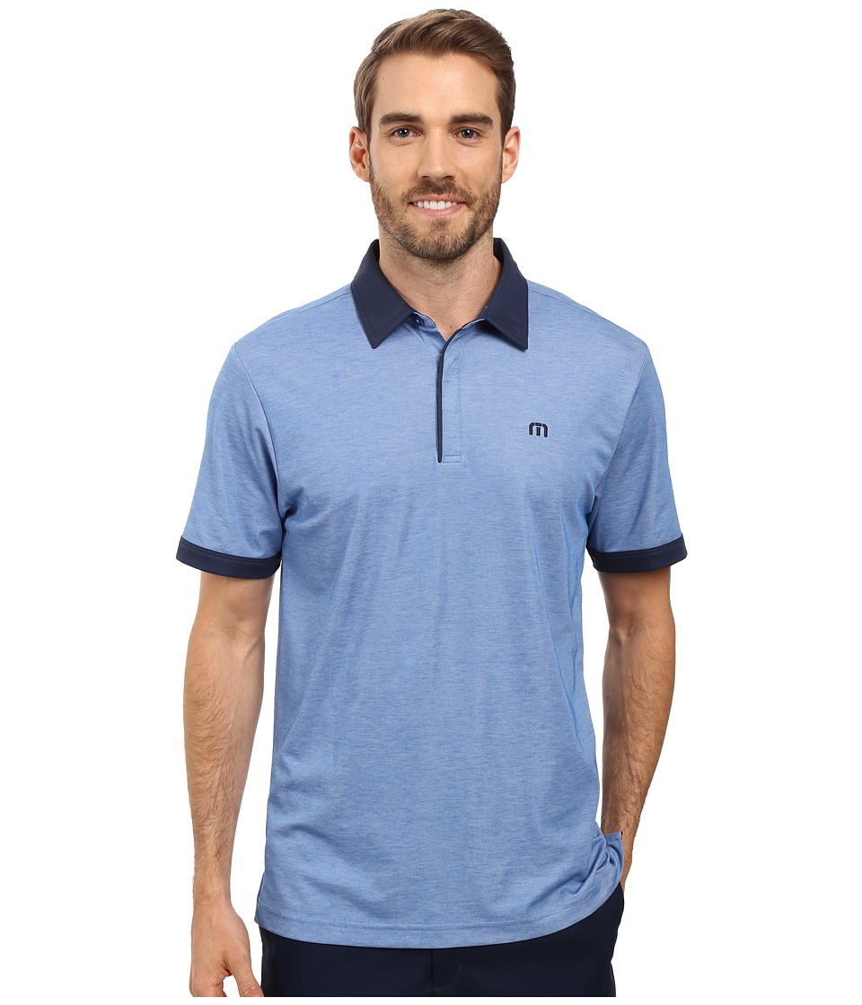 TravisMathew - The Martin Polo (Nautical Blue/White) Men's Clothing