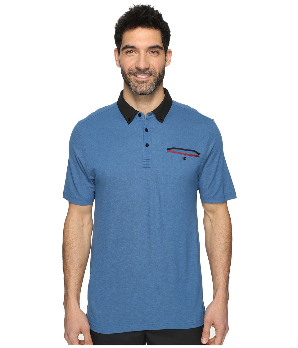 TravisMathew - Casey Polo (Dark Blue) Men's Clothing