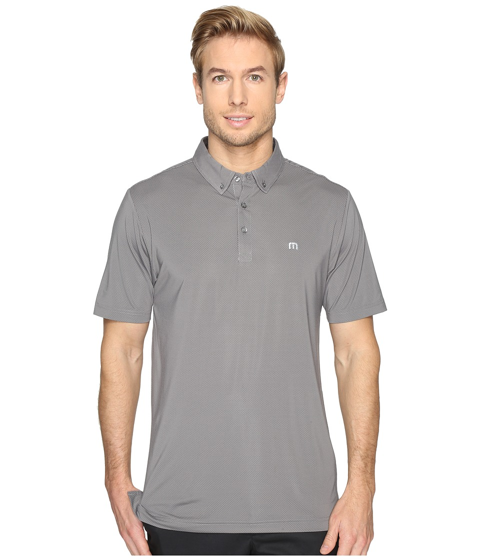 TravisMathew - Snap Fade Polo (Quiet Shade/White) Men's Clothing