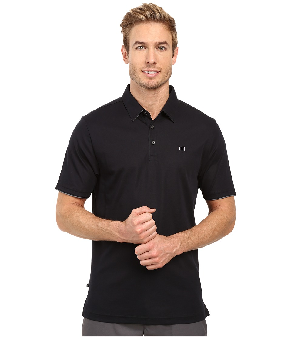 TravisMathew - Drury Polo (Black) Men's Clothing