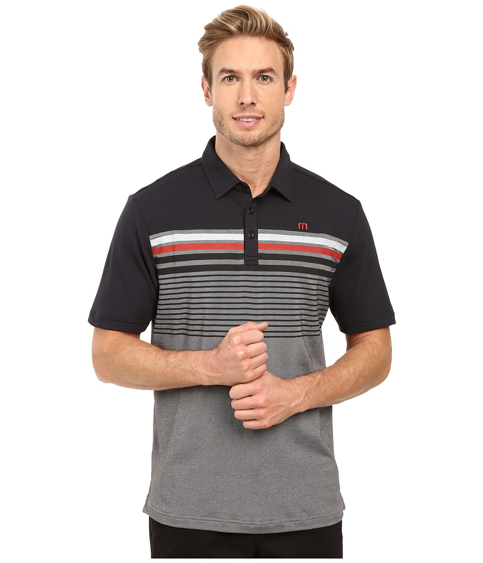TravisMathew - Mame Polo (Black) Men's Clothing