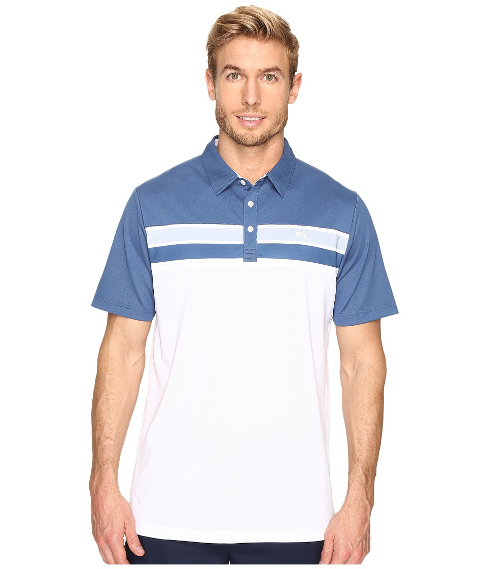 TravisMathew - Ko and Campa Polo (White) Men's Clothing