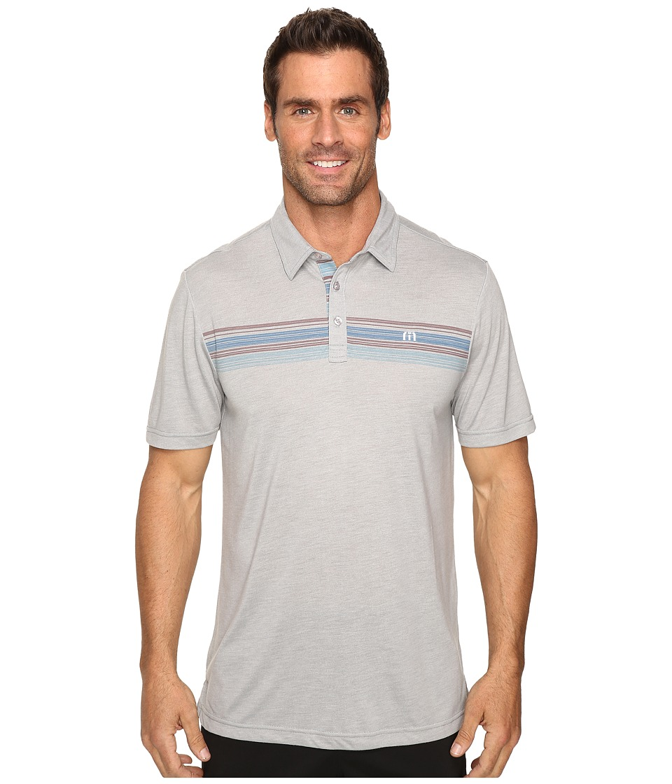 TravisMathew - Cass Polo (Heather Griffin) Men's Clothing