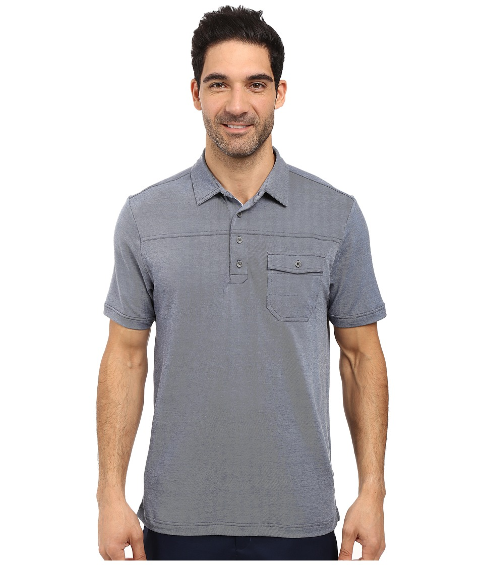 TravisMathew - B-Stock Polo (Angel Falls/Dress Blues) Men's Clothing