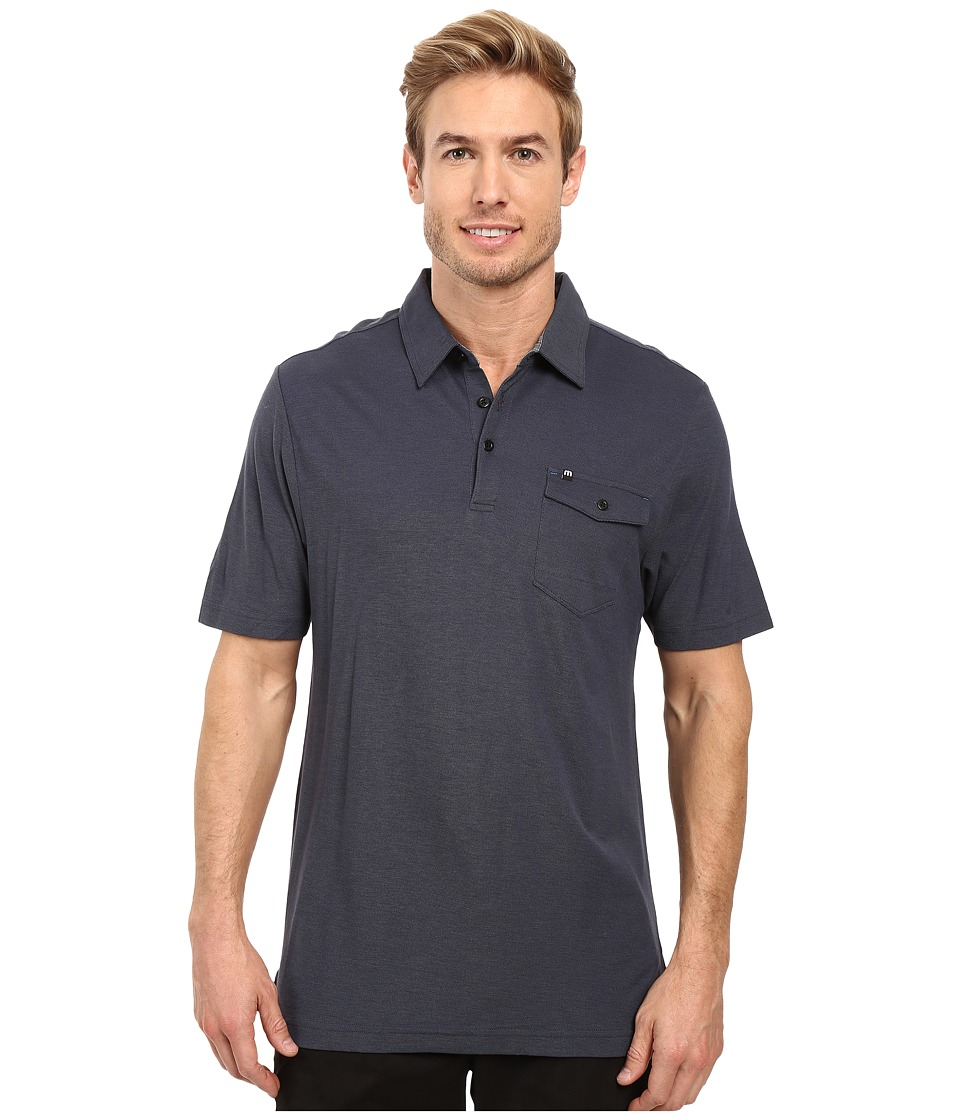 TravisMathew - Werner Polo (Dark Blue/Black) Men's Clothing