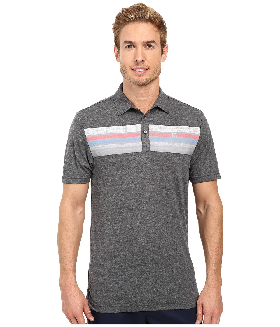 TravisMathew - Carlson Polo (Heather Magnet) Men's Clothing