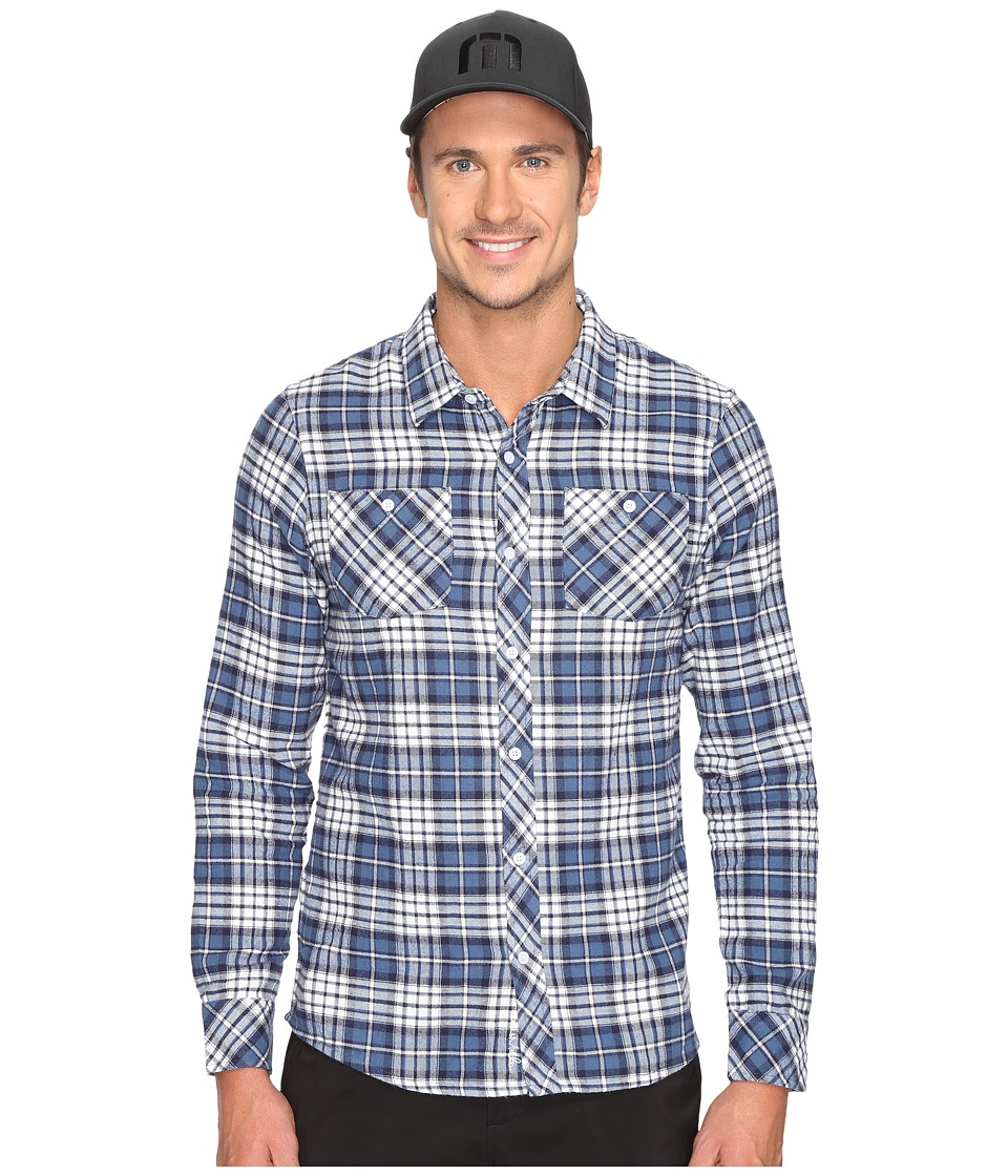 TravisMathew - Gregg Woven (Dark Blue) Men's Clothing