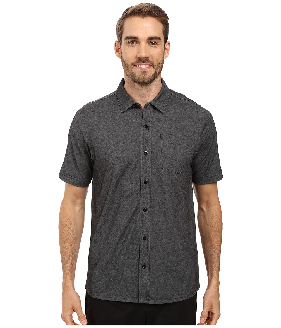 TravisMathew - Hines Woven (Black) Men's Clothing