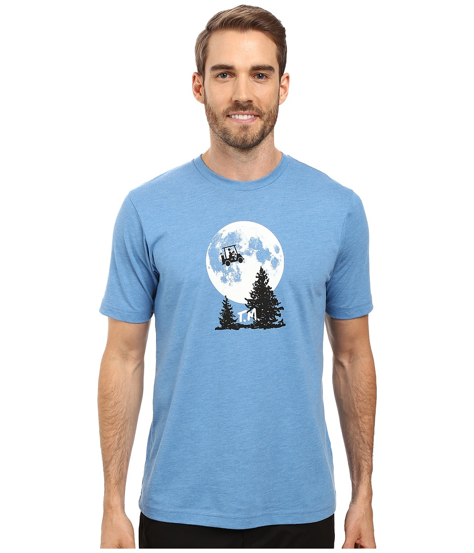 TravisMathew - Phone Home T-Shirt (Heather Blue) Men's T Shirt
