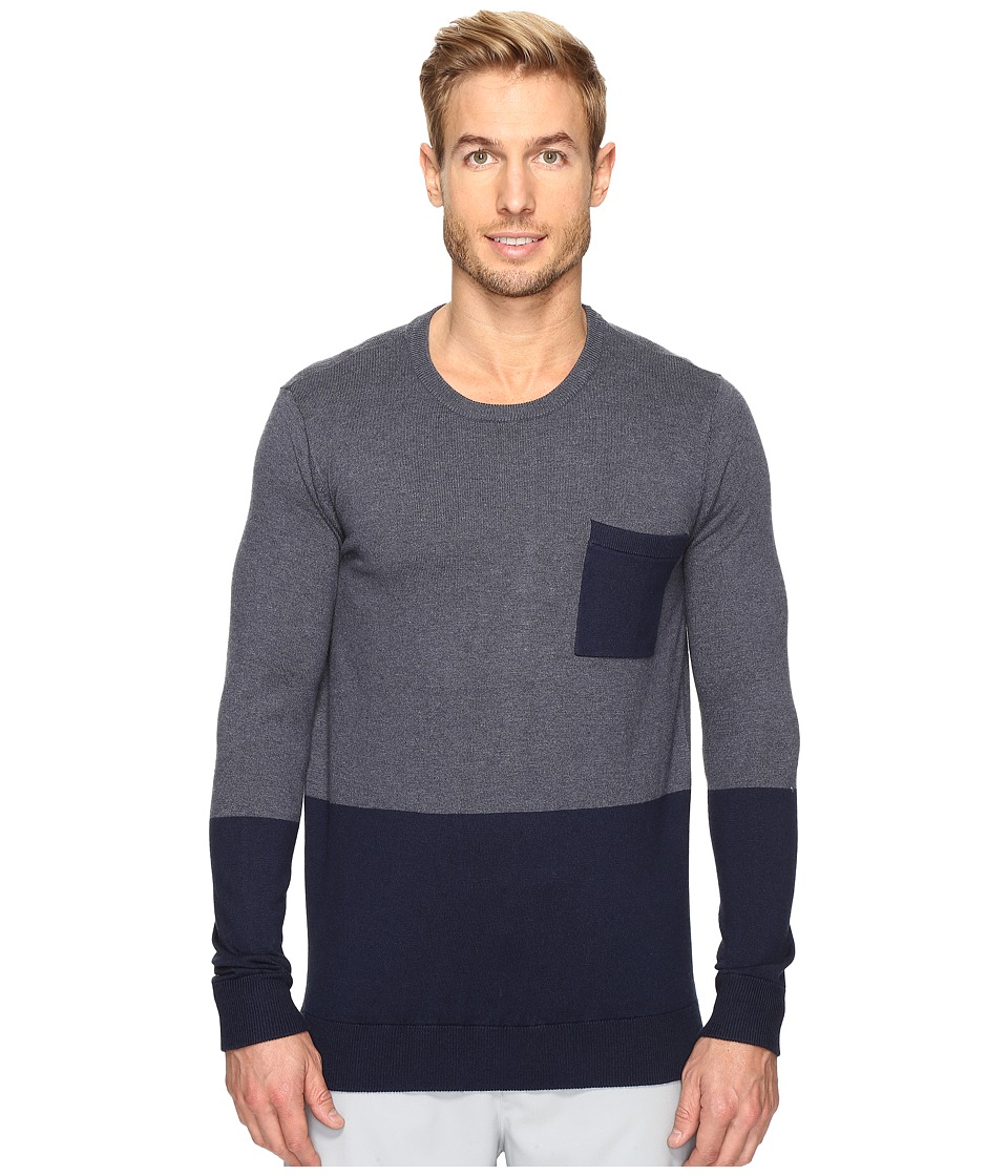 TravisMathew Exchange Sweater (Heather Dress Blues) Men