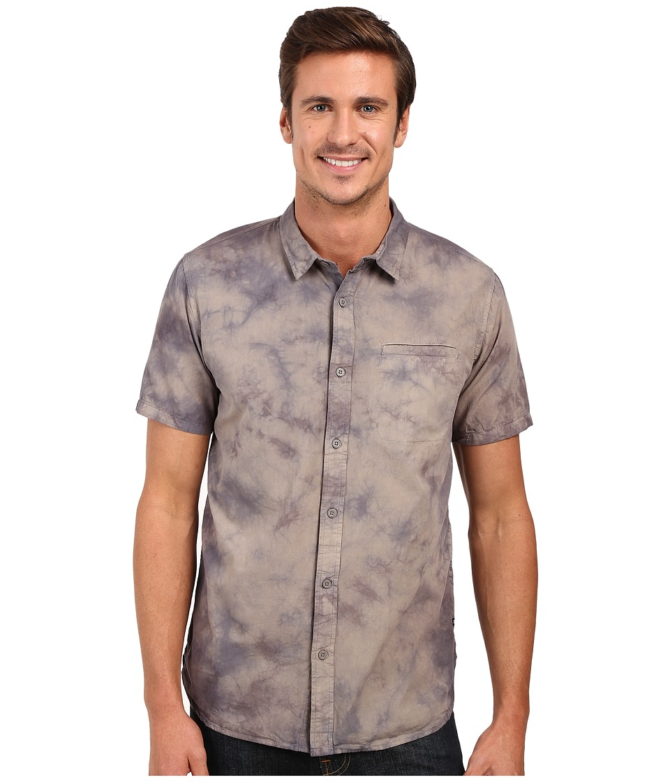 Tavik - Porter Short Sleeve Woven Shirt (Grey) Men's Clothing