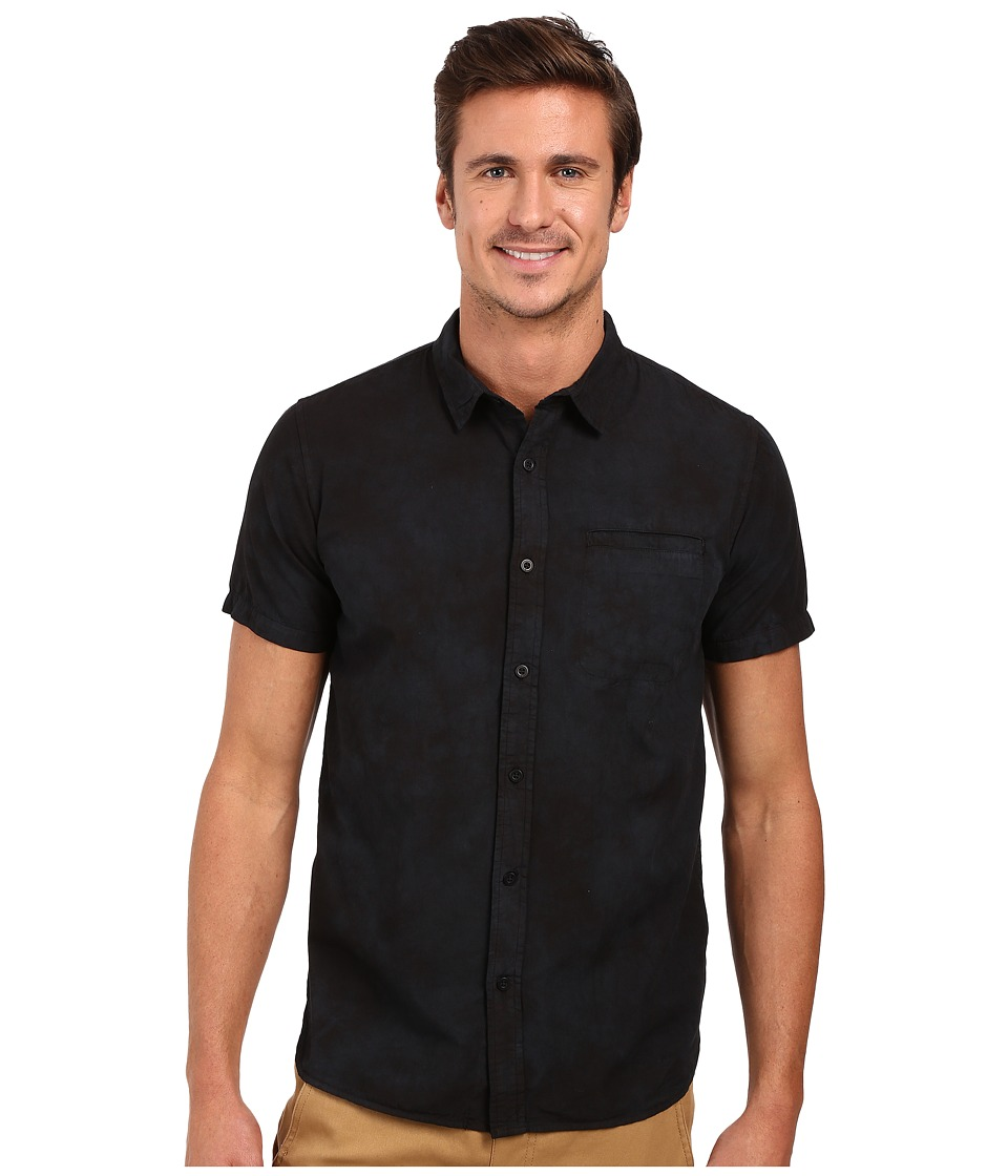 Tavik - Porter Short Sleeve Woven Shirt (Black) Men's Clothing
