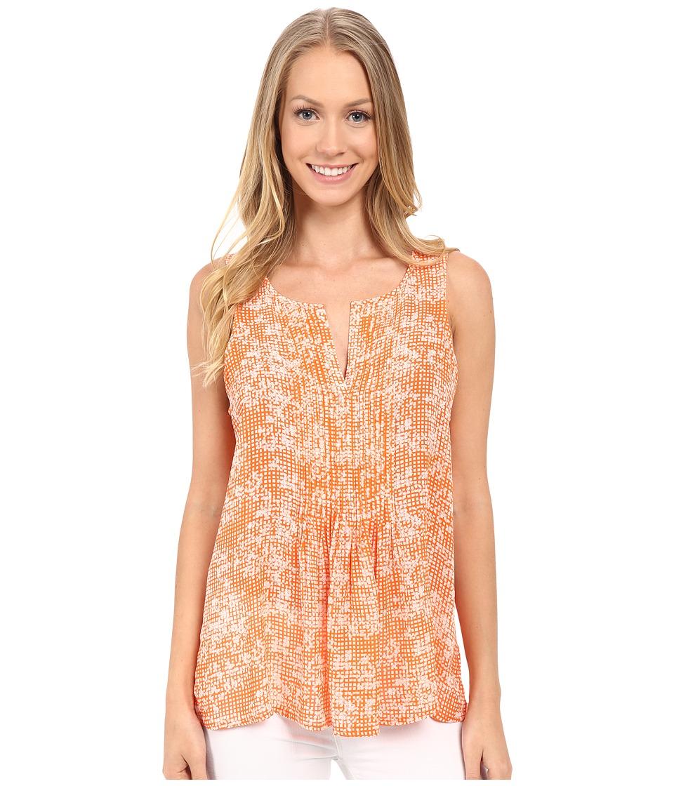 Sanctuary - Palma Shell Top (Orange Gingham) Women's Clothing