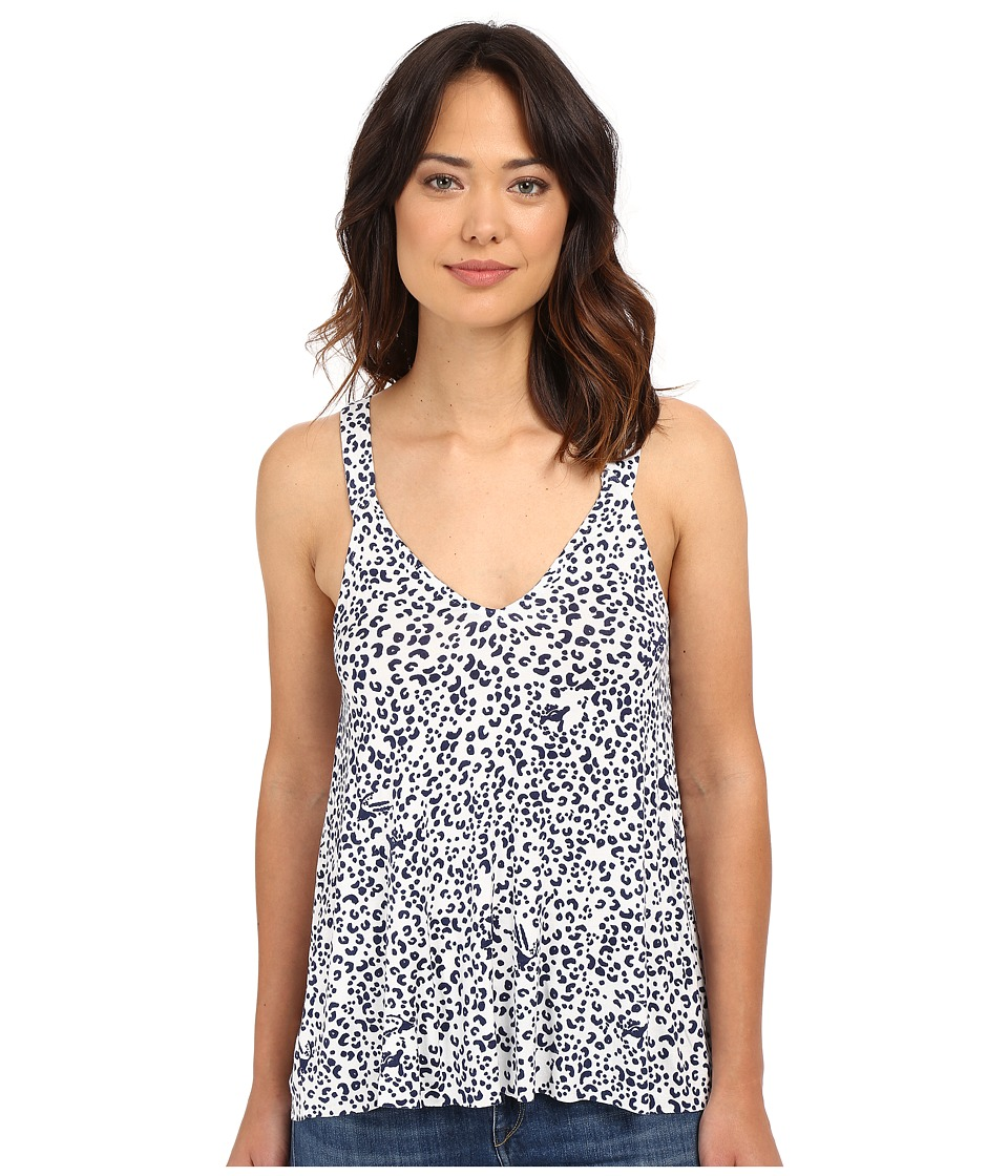 Clayton - Sora Top (Navy Leopard) Women's Sleeveless