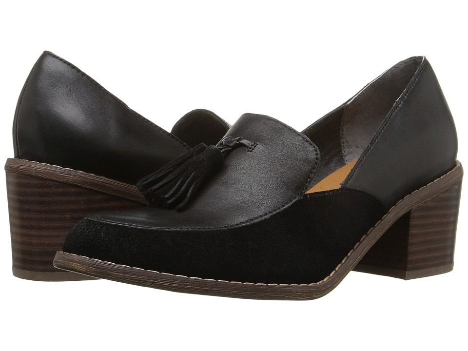 Seychelles Descent (Black Leather/Suede) High Heels