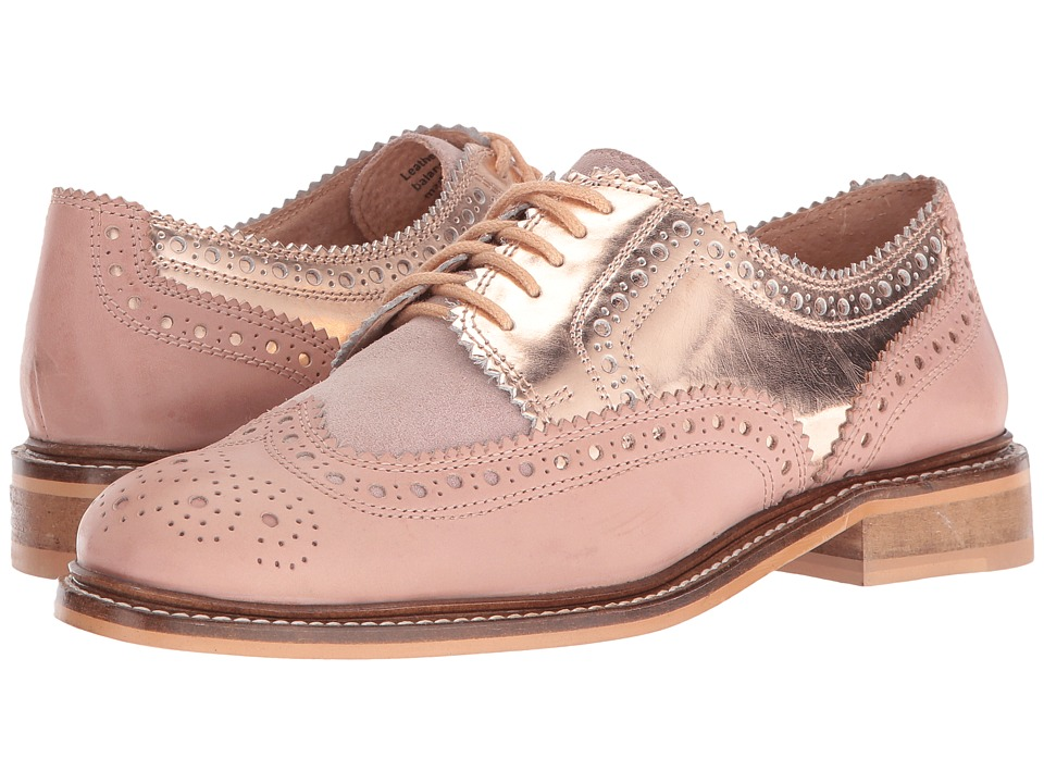 Seychelles - Ambush (Nude/Rose Gold Mirror) Women's Lace up casual Shoes