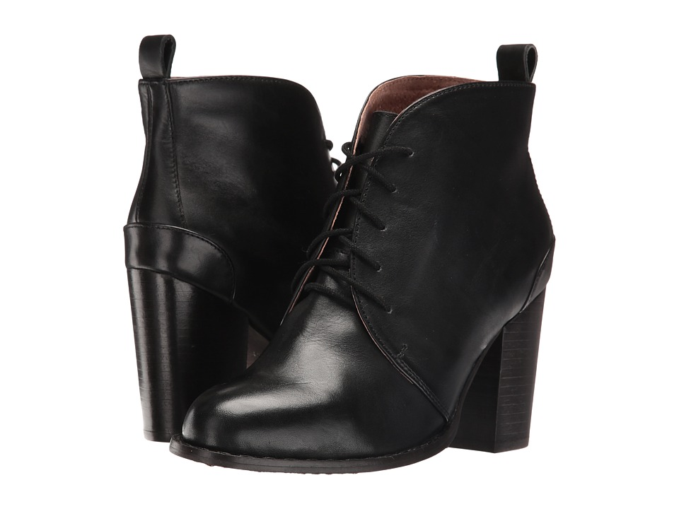 Seychelles - Tower (Black Leather) Women's Lace-up Boots