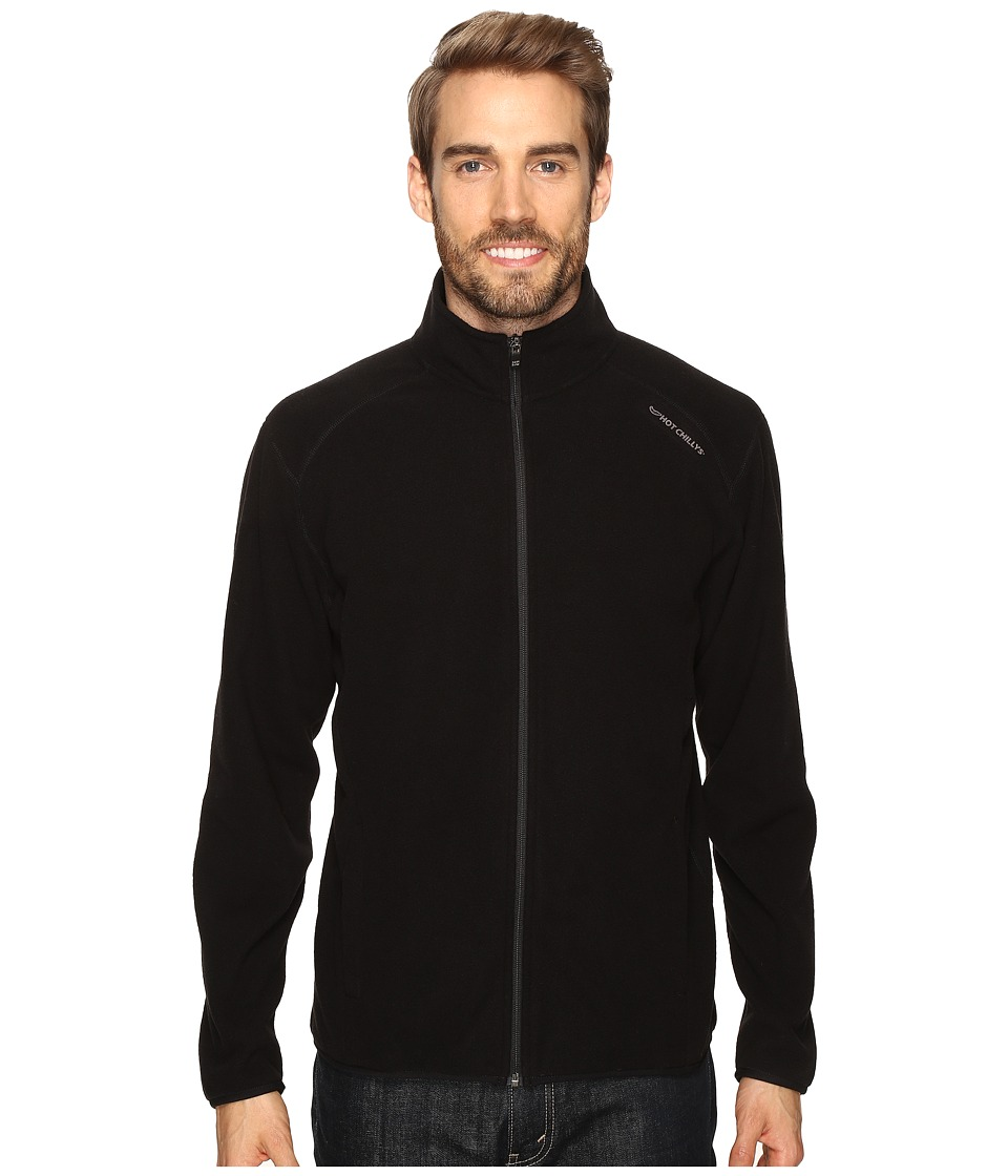 Hot Chillys - Baja Zip Jacket W/Binding (Black) Men's Coat