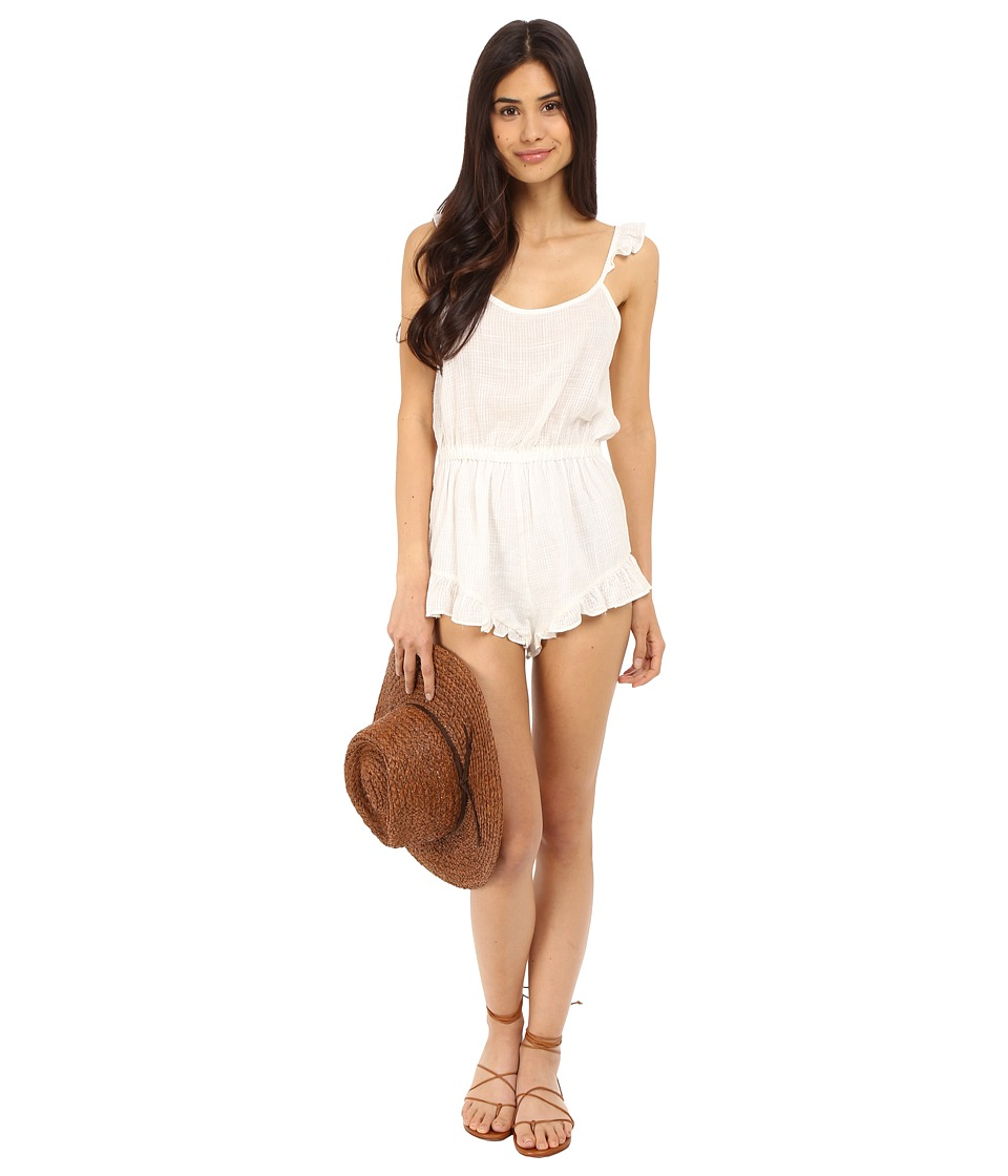 Clayton - Linen Cici Playsuit (Ivory) Women's Jumpsuit & Rompers One Piece