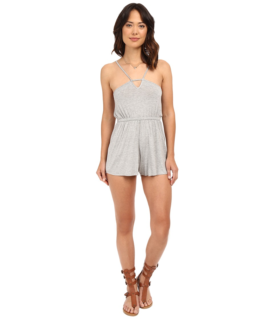 Clayton - Bristol Playsuit (Heather Grey) Women's Jumpsuit & Rompers One Piece