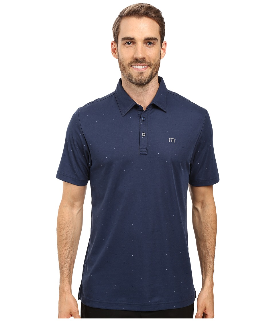 TravisMathew - JJ'S Legacy Polo (Dress Blues) Men's Clothing