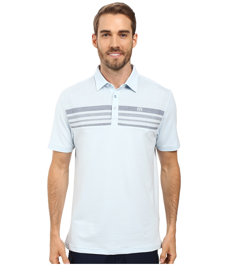 TravisMathew - JKG Polo (Angel Falls/White) Men's Clothing