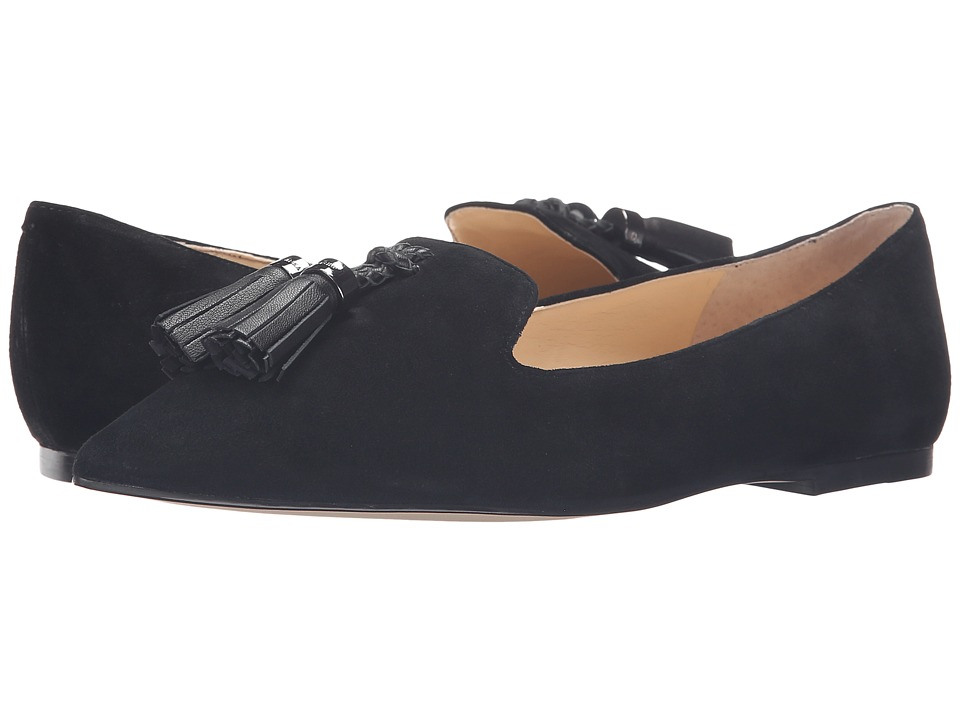Ivanka Trump - Lama (Black Multi Suede) Women's Flat Shoes