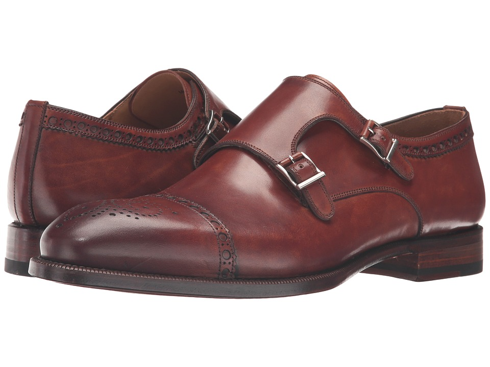 Magnanni - Villar II (Cognac Catalux) Men's Monkstrap Shoes