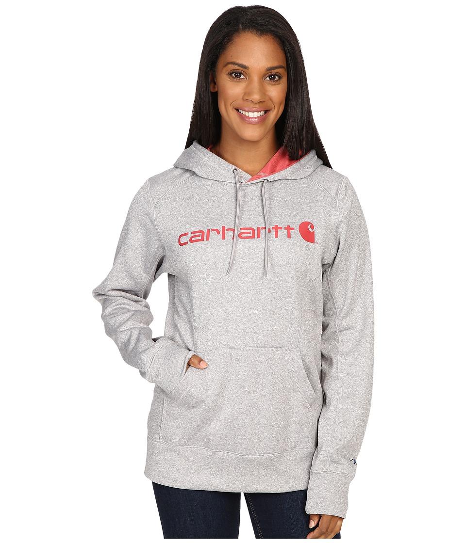 Carhartt - Force Extremes Signature Graphic Hooded Sweatshirt (Asphalt Heather) Women's Sweatshirt