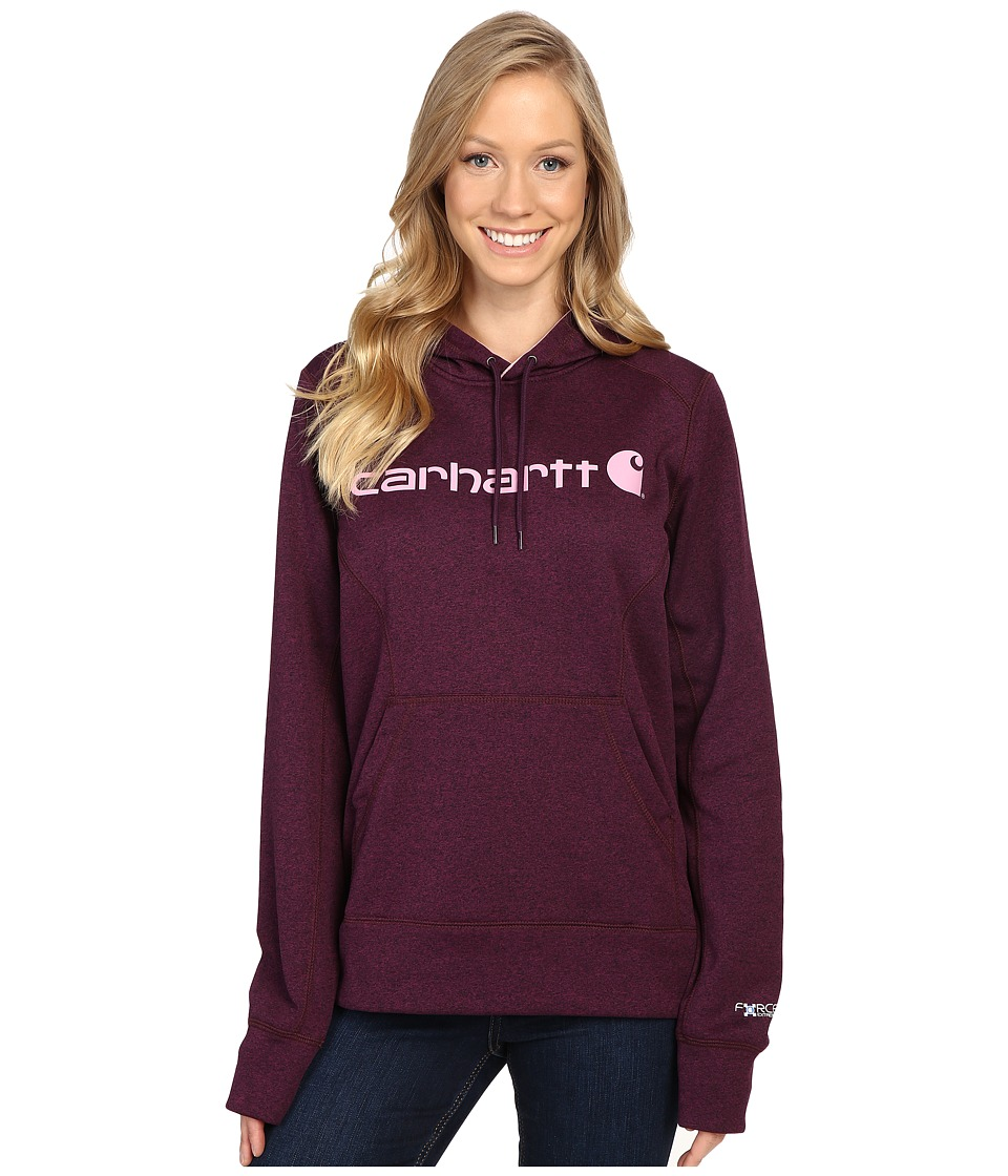 Carhartt - Force Extremes Signature Graphic Hooded Sweatshirt (Potent Purple Heather) Women's Sweatshirt