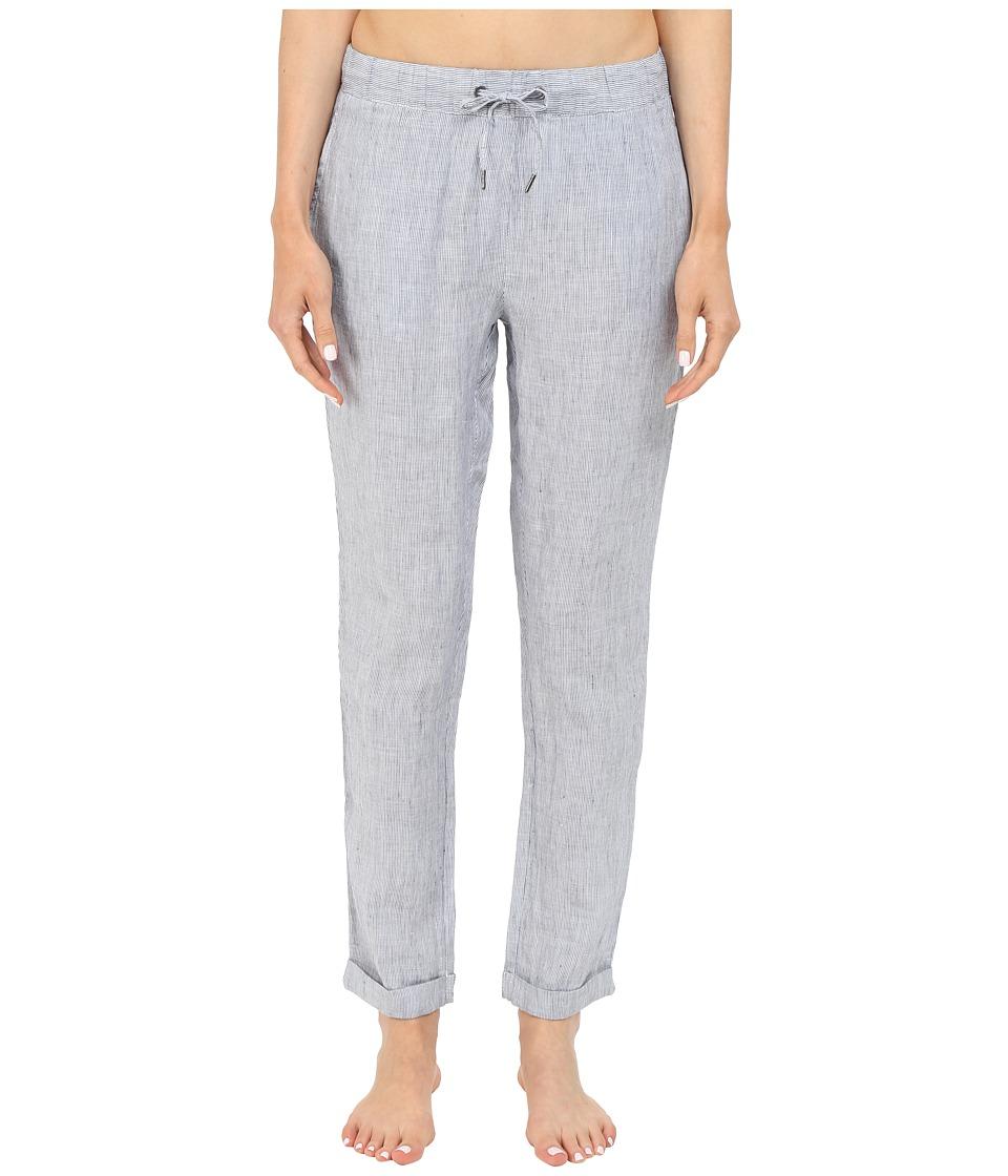 onia Ella Linen Pants (Vintage Indigo/White) Women