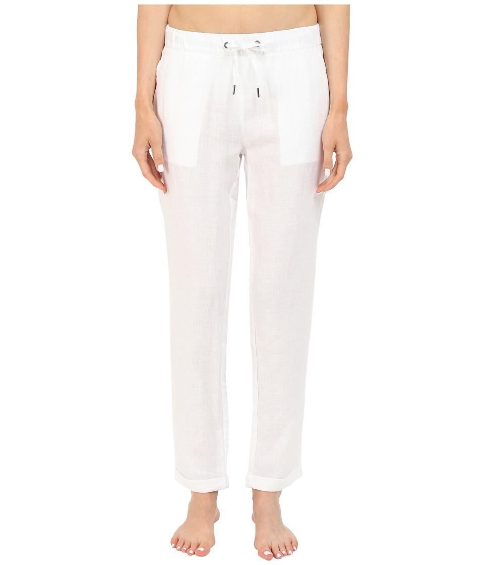 onia - Ella Linen Pants (White) Women's Swimwear