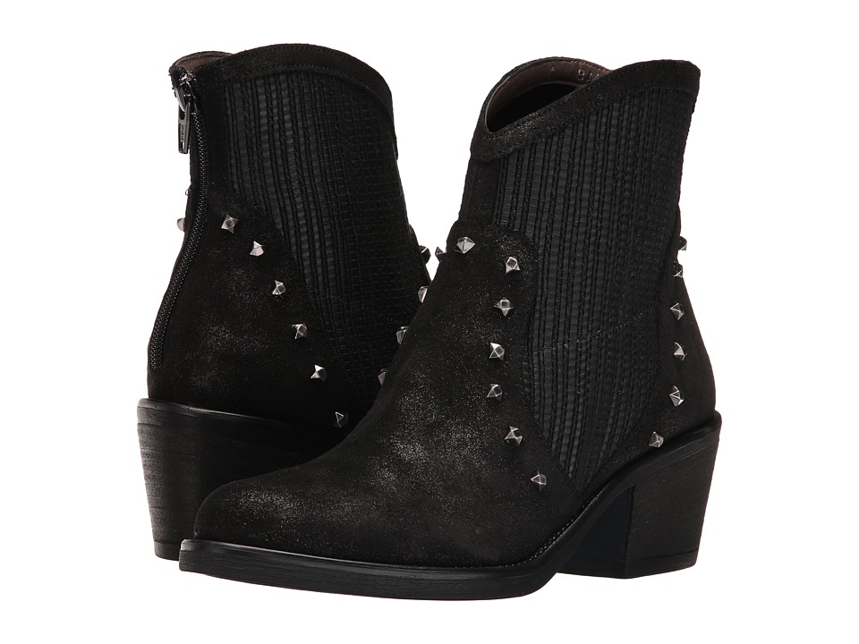 Sesto Meucci - Mirka (Black Afry Suede/Black Taby/Gunmetal Studs) Women's Boots