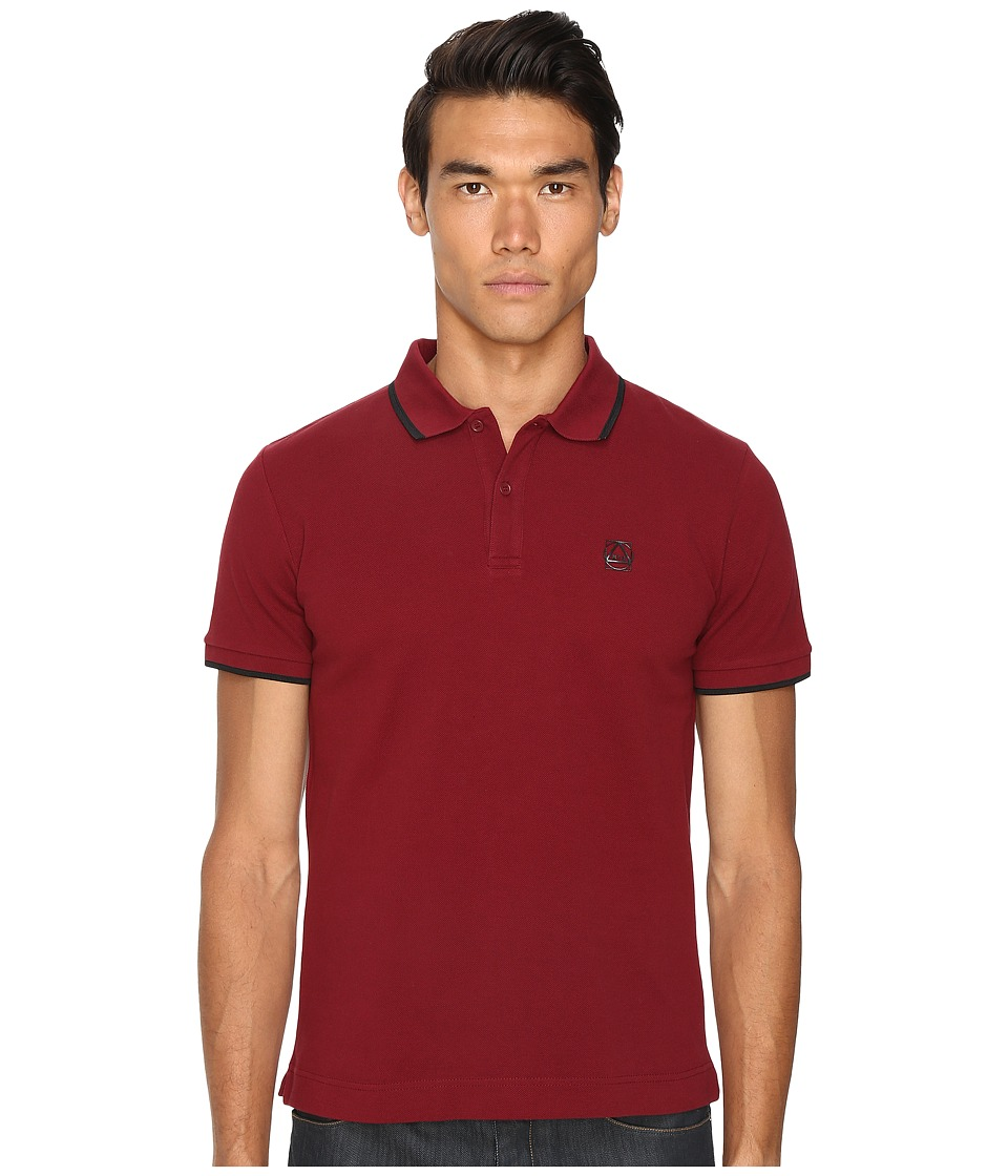 McQ - Polo (Burgundy) Men's Short Sleeve Pullover