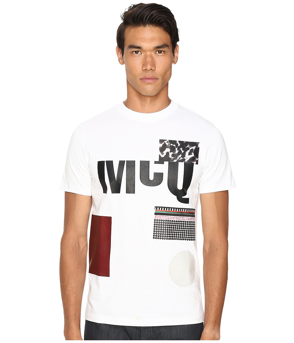 McQ - Short Sleeve Crew Tee (Optic White) Men's T Shirt