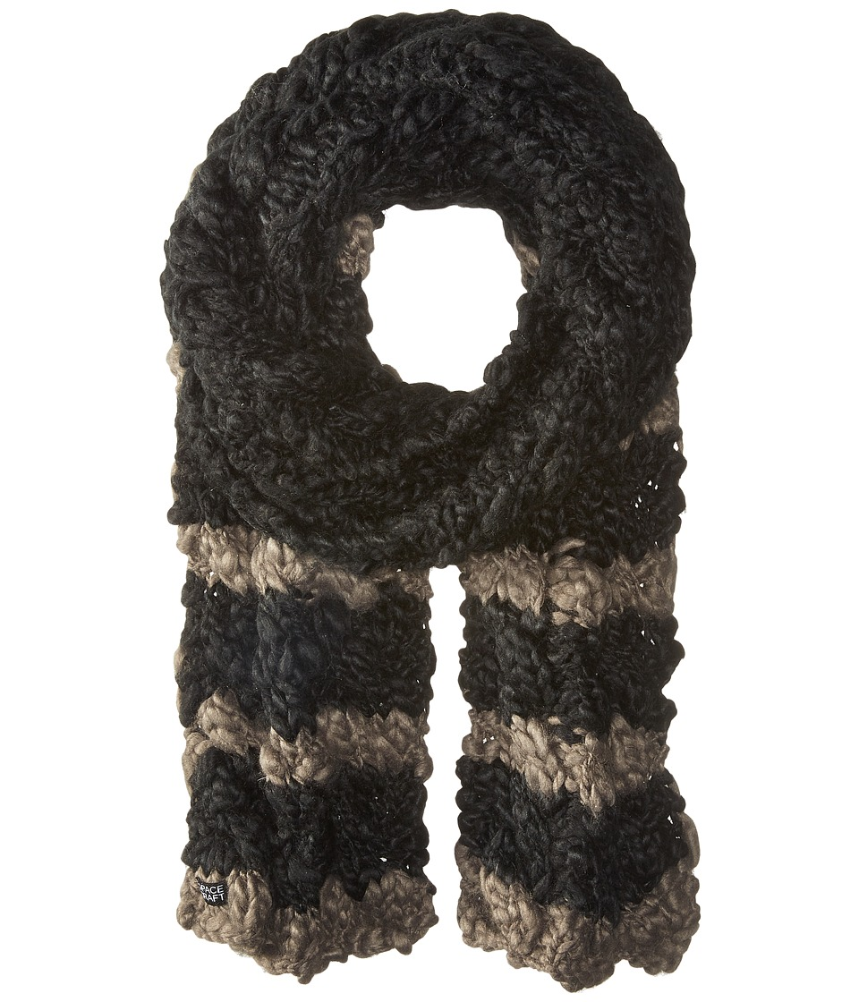 Spacecraft - Ella Stripe Scarf (Black) Scarves