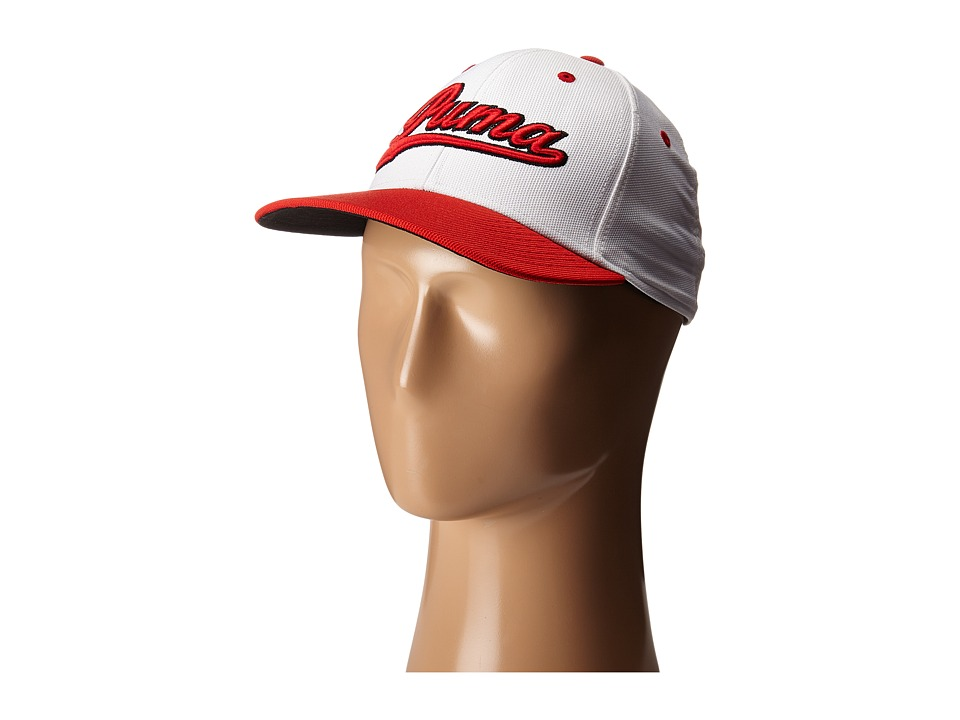 PUMA Golf Kids - Script Cap (Big Kids) (White/High Risk Red) Caps