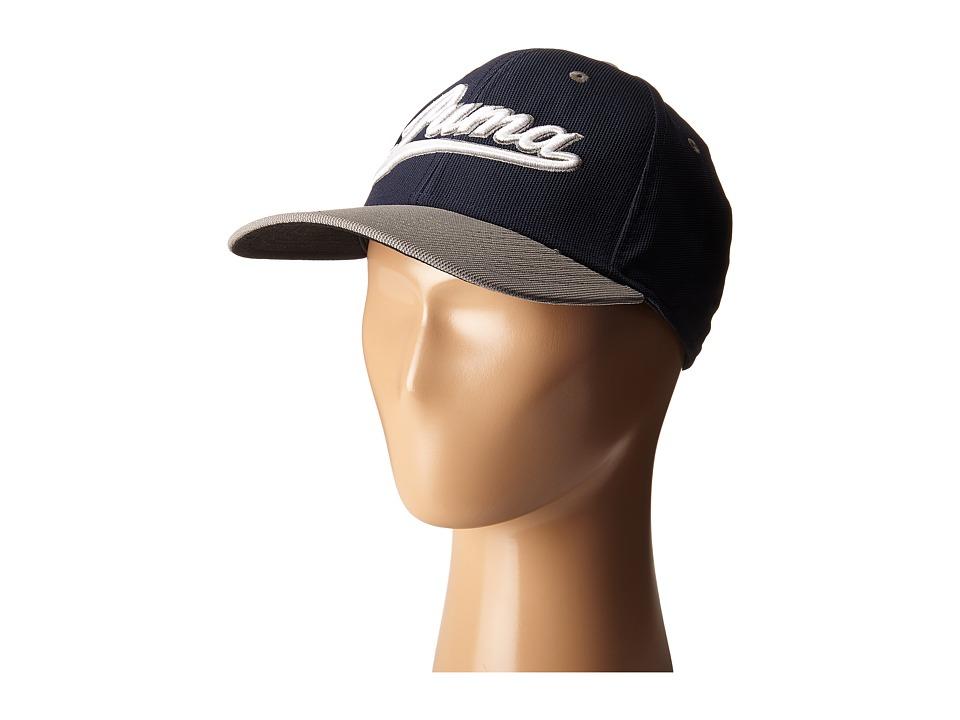 PUMA Golf Kids - Script Cap (Big Kids) (Peacoat/Folkstone Grey) Caps
