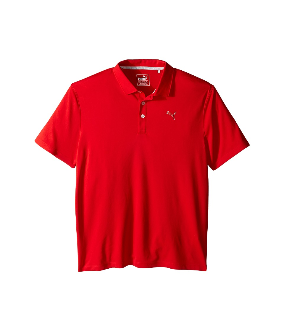 PUMA Golf Kids - Essential Pounce Polo JR (Big Kids) (High Risk Red) Boy's Clothing