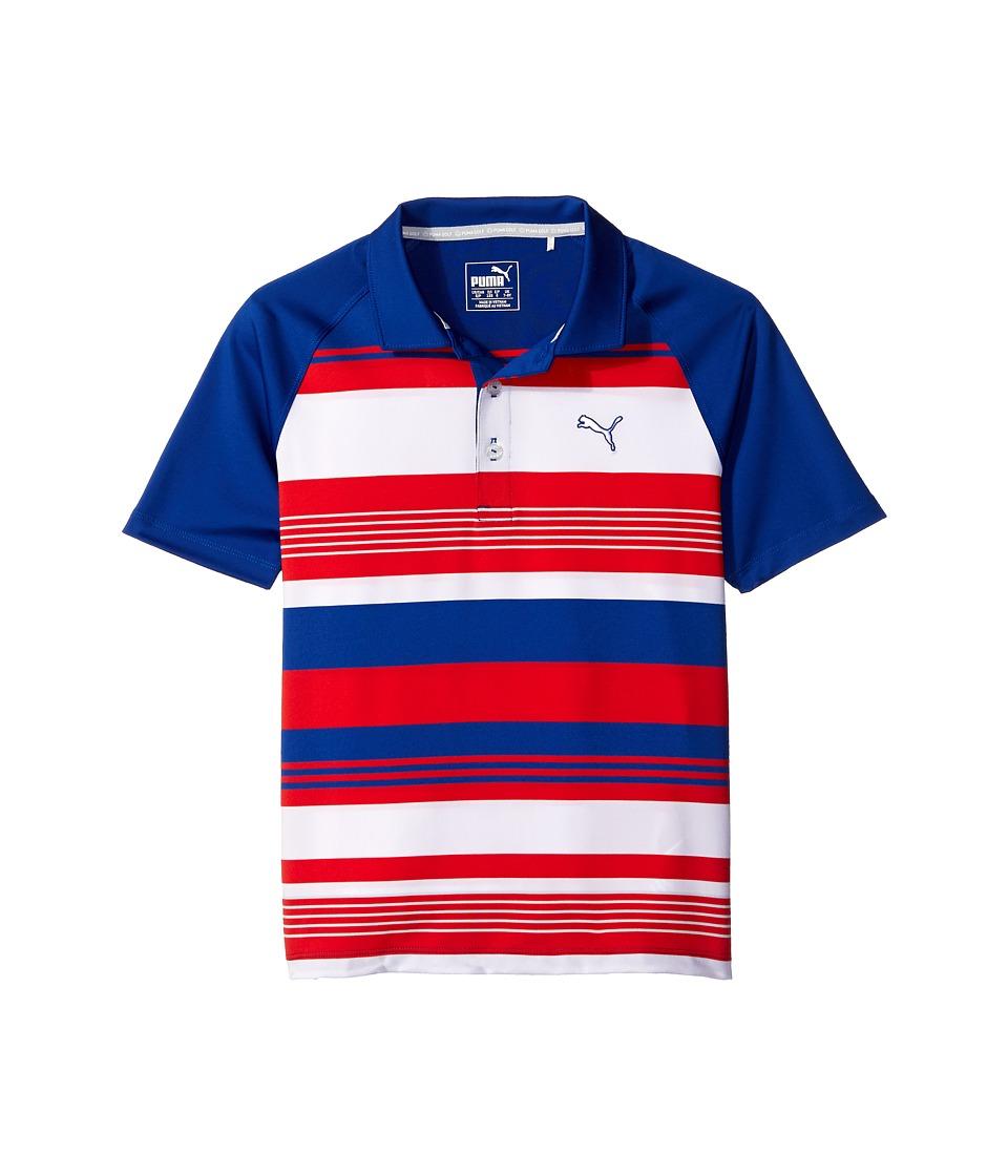 PUMA Golf Kids - Roadmap Polo JR (Big Kids) (Surf The Web) Boy's Clothing