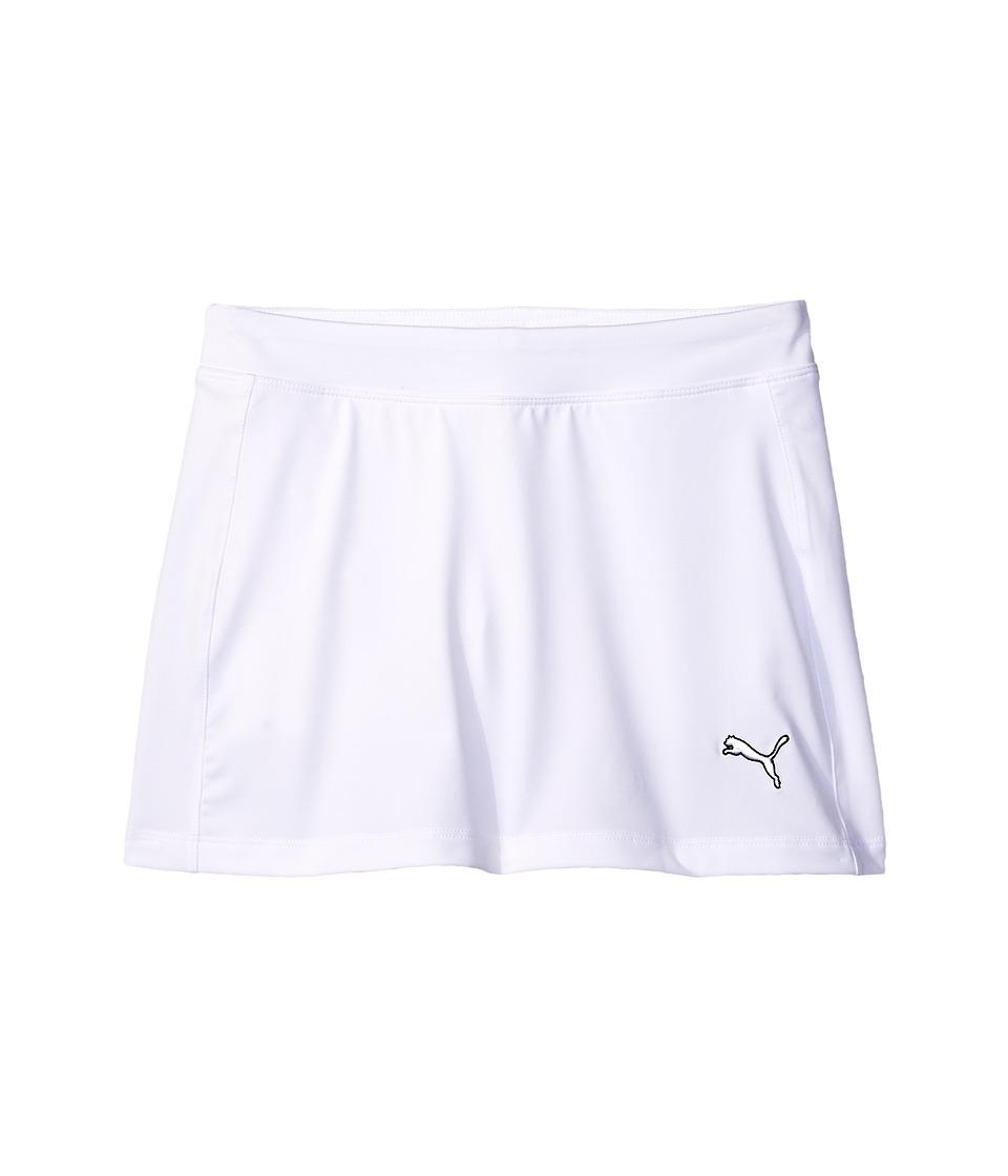 PUMA Golf Kids - Solid Knit Skirt (Big Kids) (Bright White) Girl's Skort