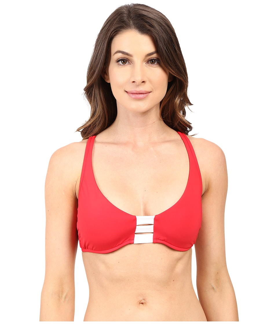 Seafolly - Block Party D Cup Halter Top (Chilli Red) Women's Swimwear